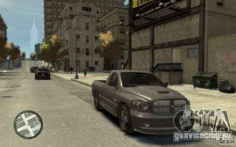 Dodge Ram SRT10 для GTA 4 вид сзади