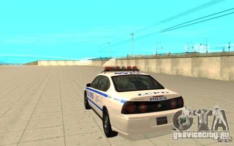 Police Patrol из GTA 4 для GTA San Andreas вид сзади слева