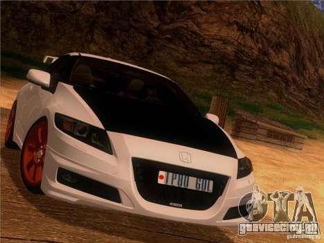 Honda CR-Z Mugen 2011 V2.0 для GTA San Andreas вид изнутри