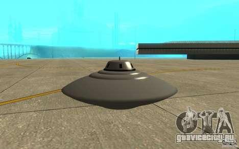 Bob Lazar Ufo для GTA San Andreas вид сзади слева