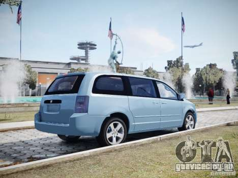 Dodge Grand Caravan SXT 2008 для GTA 4 вид снизу