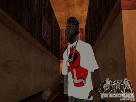 Футболка Омская птица для GTA San Andreas второй скриншот