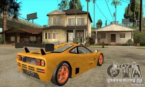 McLAREN F1 GTR GULF 1996 для GTA San Andreas вид справа