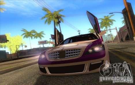 Mercedes-Benz S600 AMG WCC Edition для GTA San Andreas вид сзади