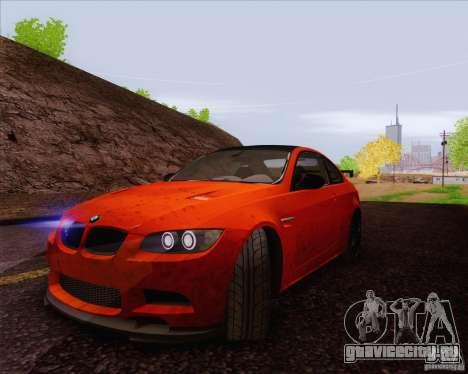BMW M3 GT-S для GTA San Andreas вид изнутри