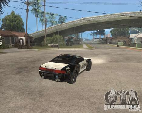 Police NFS UC для GTA San Andreas вид справа