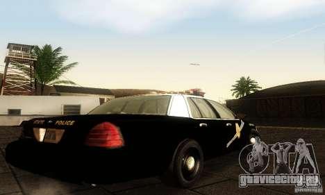 Ford Crown Victoria New Mexico Police для GTA San Andreas вид слева