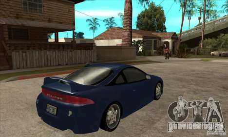 Mitsubishi Eclipse GSX - Stock для GTA San Andreas вид справа