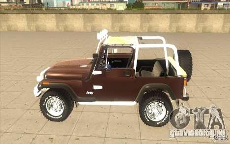 Jeep Wrangler 1986(2) для GTA San Andreas вид сзади слева