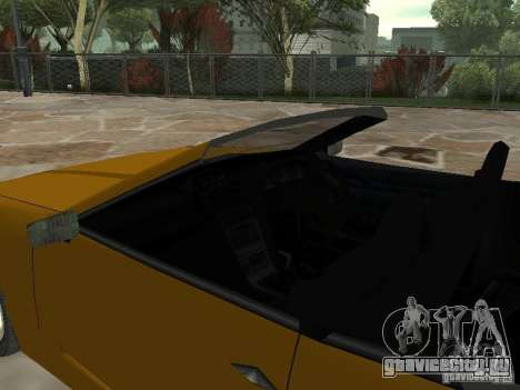 Elegy Кабрио для GTA San Andreas вид сзади слева
