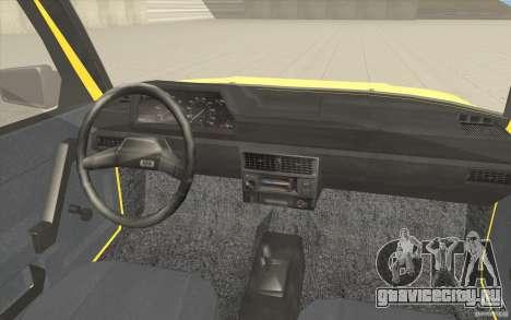АЗЛК 2141 Москвич Такси v2 для GTA San Andreas вид сверху