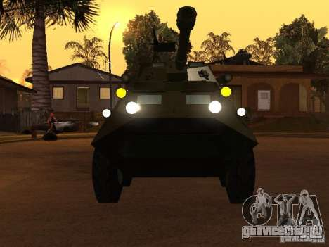 БТР-60FSV для GTA San Andreas вид сзади