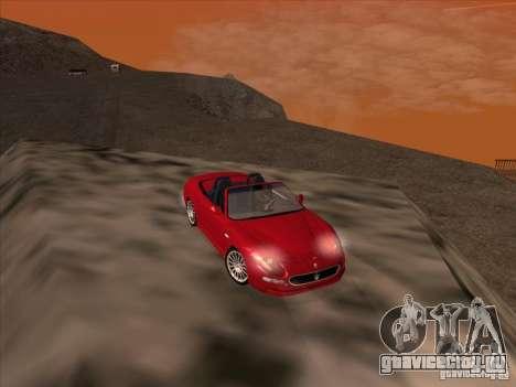 Maserati Spyder Cambiocorsa для GTA San Andreas вид сбоку