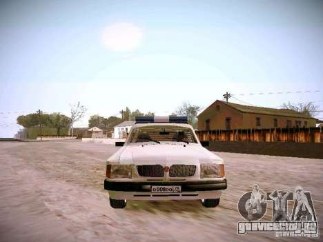 ГАЗ 310231 Скорая для GTA San Andreas вид сзади