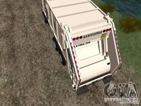 Мусоровоз из GTA 4 для GTA San Andreas вид сзади слева