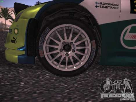 Ford Focus RS WRC 2006 для GTA San Andreas вид изнутри