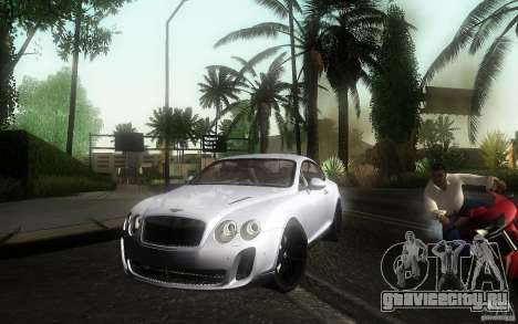 Bentley Continental SS для GTA San Andreas вид справа