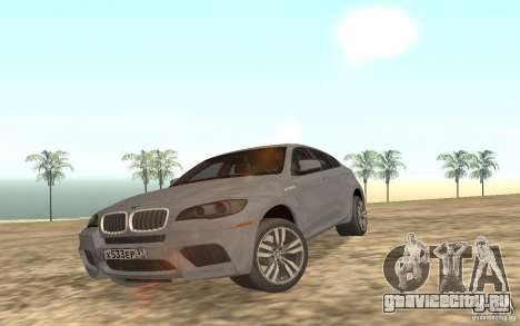 BMW X6M для GTA San Andreas вид сверху
