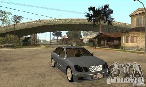 Lexus GS300 2003 для GTA San Andreas вид сзади