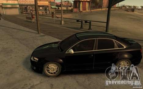 Audi RS4 для GTA 4 вид слева