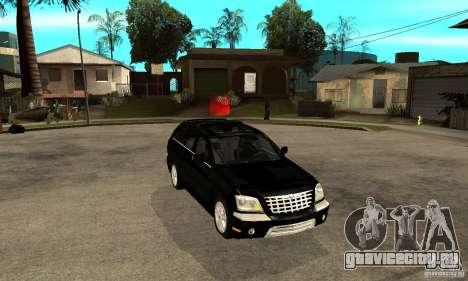 Chrysler Pacifica для GTA San Andreas вид сзади