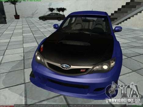 Subaru Impreza для GTA San Andreas вид сзади