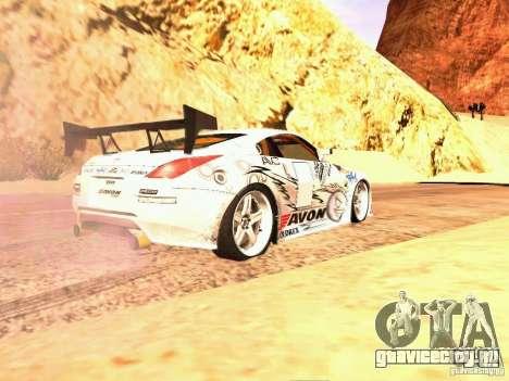 Nissan 350Z Avon Tires для GTA San Andreas вид слева