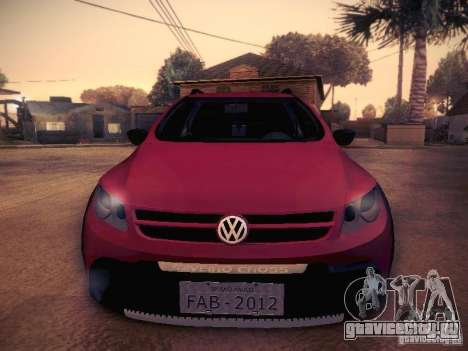 Volkswagen Saveiro Cross для GTA San Andreas вид изнутри