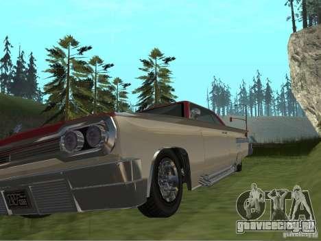 Voodoo из GTA 4 для GTA San Andreas вид изнутри