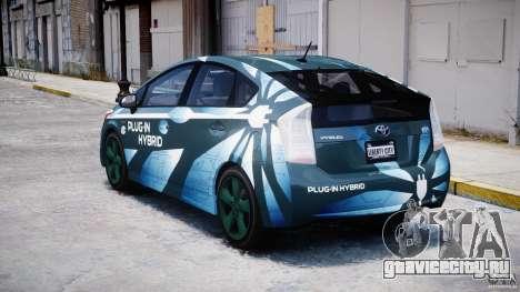 Toyota Prius 2011 PHEV Concept для GTA 4 вид сзади слева