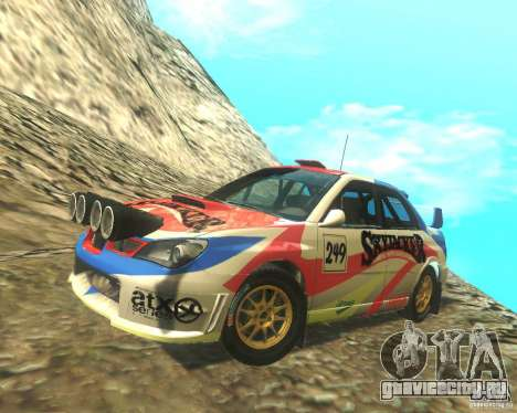 Subaru Impreza WRX STI DIRT 2 для GTA San Andreas вид снизу