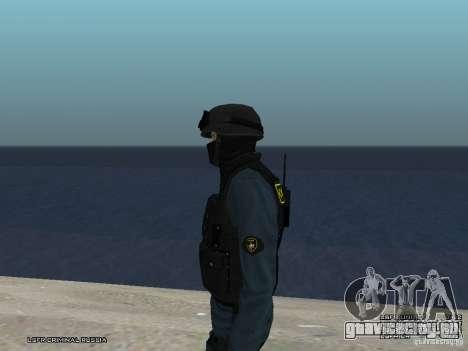 Сотрудник ОМОН для GTA San Andreas седьмой скриншот