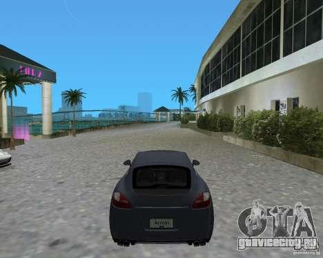 Porsche Panamera для GTA Vice City вид сзади слева