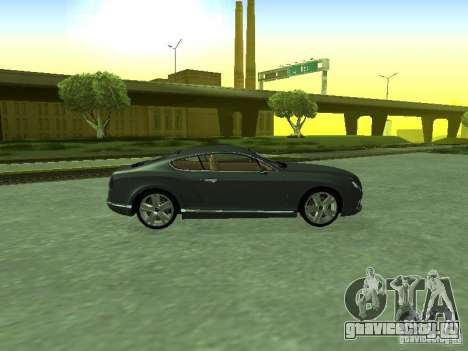 Bentley Continental GT 2010 V1.0 для GTA San Andreas вид справа
