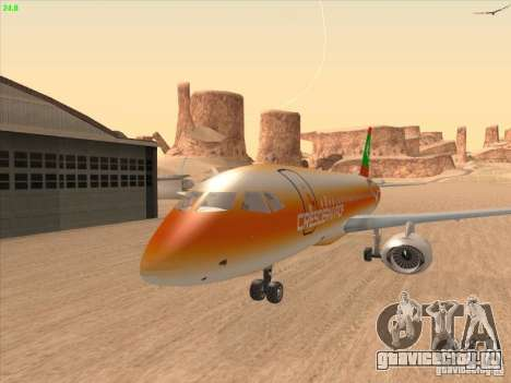 Sukhoi Superjet-100 для GTA San Andreas вид изнутри