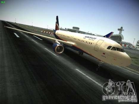 Airbus A320 АэроФлот Российские Авиалинии для GTA San Andreas вид изнутри