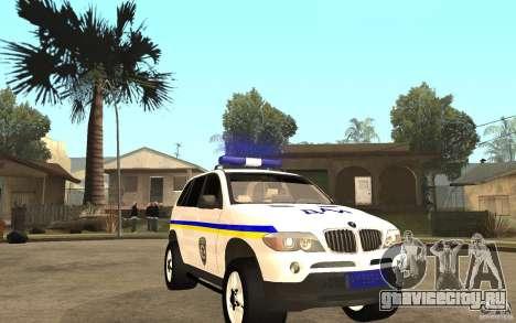 BMW X5 ДАІ для GTA San Andreas вид сзади