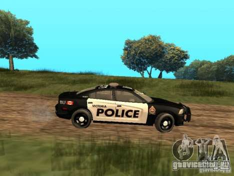 Dodge Charger Canadian Victoria Police 2011 для GTA San Andreas вид сзади слева
