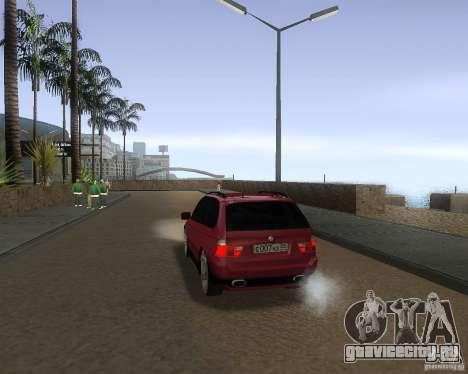BMW X5 Sport Tun для GTA San Andreas вид сзади слева