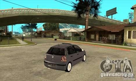 Volkswagen Polo 2008 для GTA San Andreas вид справа