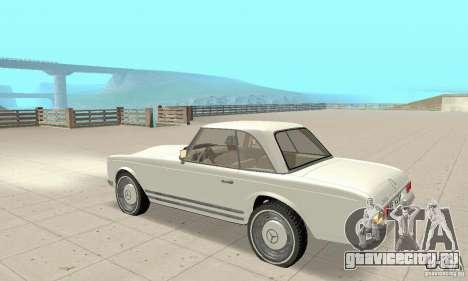 Mercedes-Benz 280SL (глянцевый) для GTA San Andreas вид сзади