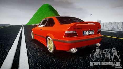 BMW E36 Alpina B8 для GTA 4 вид сзади слева