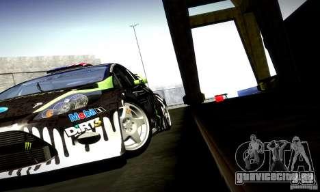 Ford Fiesta Gymkhana 4 для GTA San Andreas вид изнутри