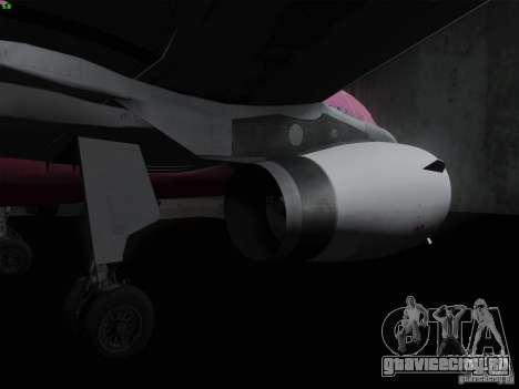 Airbus A319 Spirit of T-Mobile для GTA San Andreas вид сзади