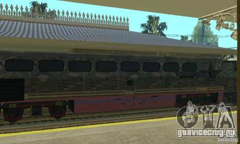 Камуфляжный поезд для GTA San Andreas вид сзади слева