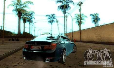 BMW 750Li для GTA San Andreas вид изнутри