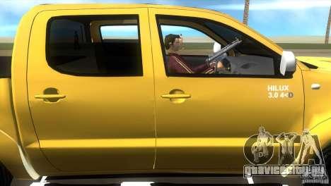 Toyota Hilux SRV 4x4 для GTA Vice City вид сзади
