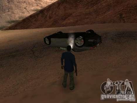 Перевернутые автомобили не горят для GTA San Andreas шестой скриншот