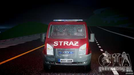 Ford Transit Polish Firetruck [ELS] для GTA 4 вид сбоку