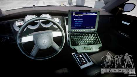 Dodge Charger FBI Police для GTA 4 вид сзади